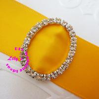 30*24mm oval rhinestone invitation ribbon slider buckle, small diamante buckle for wedding, DIY wedding supply,150pcs/lot