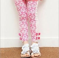 free shipping 5pcs/lot 100% cotton children's Leggings fashion Princess girls lovely straight type  kids cotton chevron pants