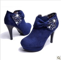 2013 autumn thin heels single shoes female rhinestone platform female high-heeled shoes fashion all-match female shoes work