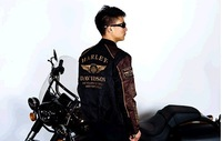 Женская одежда из кожи и замши 2013 cool jacket motorycle cool black skull patch discount orginal jaqueta 110th for women 98152-12vm