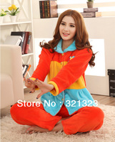 Flannel pajama suit home wear wholesale and retail women winter Loungewear