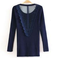 Fashion female knitted basic shirt