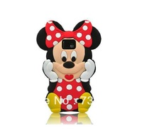 Cute 3D Minnie Mickey Mouse Polka Dot Bow Silicone Case Cover for Samsung Galaxy s2 i9100