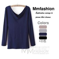 Autumn fashion women's V-neck long-sleeve basic shirt female t-shirt