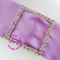 40mm square rhinestone buckle for chair sash, wedding sash buckle slider,DIY wedding supply,100pcs/lot