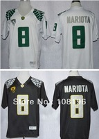 Free Shipping 2013 Oregon Duck  Marcus Mariota 8 College Football Limited Jerseys size M~XXXL ,Mix Order,