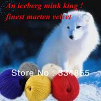 free shipping (10 pieces/lot)Mink yarn marten velvet line hand-knitted woven wire leptonema woolen yarn 51color