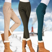 Plus velvet thickening thermal slim legging casual harem pants plus size trousers clothing trousers
