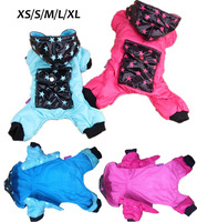 Free Shipping !! Stars Hooded & Pocket Pet Dog Clothes Winter Jumper Puppy Jacket Coat Clothing Christmas Apparel XS - XL Size