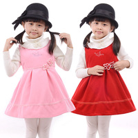 Flower children's clothing female child tank dress princess dress autumn and winter 2012 child one-piece dress