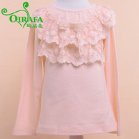 Flower female child autumn T-shirt long-sleeve female child autumn 2013 t-shirt female child t-shirt princess long-sleeve