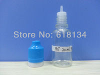 Wholesale Free shipping--NEW TYPE 20ml PET thin tamper evident cap with childproof lock bottle for 2500pcs by FEDEX E-cigarette