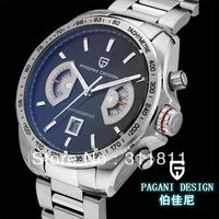 Pagani Design Racing Chronograph Mens waterproof sports watch big dial watch scratch (CX-2445A)