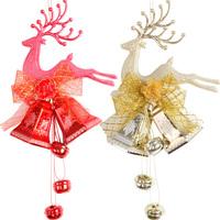 Free shippin 5pcs/lot,Christmas tree decoration supplies christmas deer bell pendant christmas bells door hanging