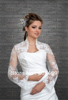 Hot 2013 Lace Bolero/Shrug/Jacket Long Sleeve Bridal Jacket Wedding Jacket Bridal Jacket