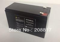 free  EMS shipping 2pcs/lot   Long Lifespan 7.5Ah 12V LifePO4 Battery for LED Light / UPS