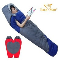 Trackman patchwork double down sleeping bag outdoor ultra-light adult thickening autumn and winter sleeping bag