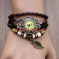 15pcs/lot New Leather Women Bracelet Watch Vintage Wrist Watch Girls Cute Butterfly Watch Drop shipping 18184