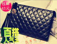 Fashion 2013 women's handbag bag female plaid clutch female fashion day clutch bag small one shoulder cross-body
