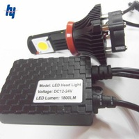 Free Shpping 2013 Newest 50W super  white h7 bulb cree led 1800lm car headlight auto lamp