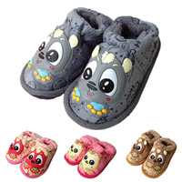 Cartoon cotton-padded shoes little grey child baby home slippers male cotton-padded shoes girls winter slippers