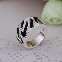 New Hot 925 Stamped Silver Plated Finger Rings Wholesale Dropshipping Nickel Free Best Gifts Trendy Jewelry LR271-8