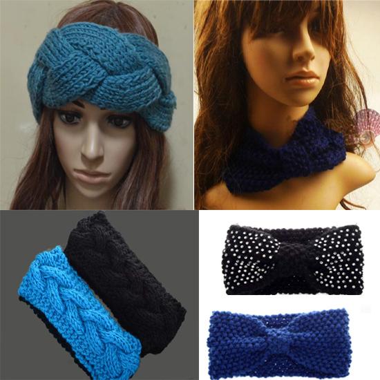 Fashion Women Winter Crochet Headwrap Ear Warmer Hair Headband Knitted hair accessries [CW05002 CW05003](China (Mainland))