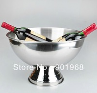 Home bar club hotel stainless steel dia35cm big bowl champagne Cooler bucket-2pcs/lot