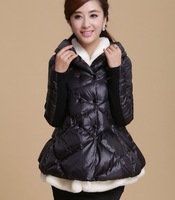 2014 new winter poncho two layer stand collar fashion trend of the down coat female short design double breasts.