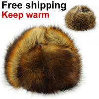 Wind&Water Proof Trapper Hat, men Fur cap,Russian Hat, bomber caps for men,winter hats Free Shipping