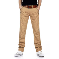2013 Autumn Winter Men's Casual Pants Khaki Slacks Cotton Straight Long Trousers Men pant Free Shipping