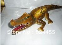 Free Shipping! Wholesale Retail Electrical Animals big size 50cm Crocodile big Animals Toy Novel toys