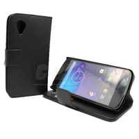 Black New Leather Case Cover Pouch +Screen Protector For LG Google Nexus 5 e Free shipping