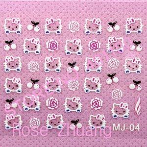 24x 3D Japanese Style Nail Art Sticker Decal Cartoon Designs Stickers DIY Nail Art Decoration Glow in the dark Retail SKU:B0050X(China (Mainland))