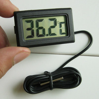 Lcd digital electronic thermometer embedded belt 1 meters temperature measurement waterproof refrigerator thermometer