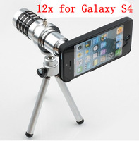 Newest 12x Camera Zoom optical Telescope telephoto Lens For for  samsung Galaxy S4 I9500,10pcs/lot