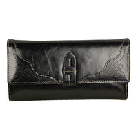 2013 new women's long leather wallet - pure color restoring ancient ways in Europe and America