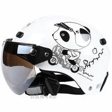 Free shipping!Fashion Halley EVO half helmet,electric bicycle helmet,Women's Motorcycle Summer helmet,Cartoon Panda(China (Mainland))