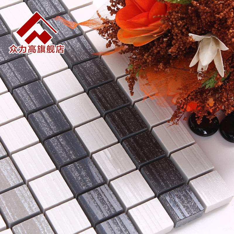 Ceramic mosaic sofa background wall white modern brief home improvement(China (Mainland))