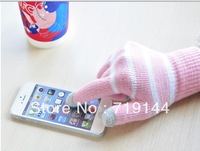 Newest Arrival  telefinger gloves lady warm touch screen glove winter knitted glove,(min order $10)