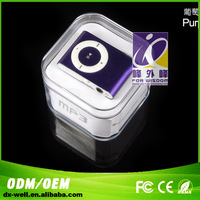 With earphone cable white box free shipping mini mp3 player as a gifts,with no memory inside