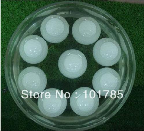 200pcs per lot Hot Sale Two Layer Plain Floating Golf Ball(China (Mainland))