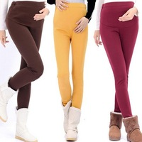 2013 Autumn winter Thicken Plus velvet Maternity leggings Cotton stomach lift trousers pants for pregnant women clothing 6 color
