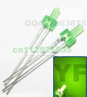Hot sale! 2mm green indicator led diode diffused DIP LED 2.0-2.2V tower shape leds