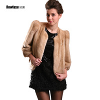 Mink white 2013 fur mink female marten overcoat ws-0029