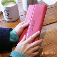 Slim ultra-thin design long wallet/ leather wallet/ female sweet big wallet 4