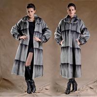 Warm Winter Fur Jacket Trench Women'S Fur Coat Luxury Vingtage Faux Fur Coat Of Mink One Long Jackets For Women EMS Freeshipping