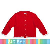 Baby Autumn Clothing Casual Lace Trim Design Cardigans,Free Shipping  K3753