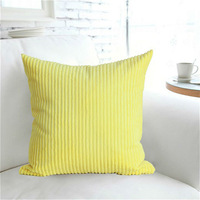 Pure color corduroy hold pillow cushion for leaning on of yellow purple 45 * 45 excluding core can be customized special offer