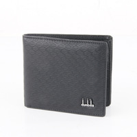 Free ship Male genuine leather wallet check design cowhide short wallet multi card holder brief casual wallet purse